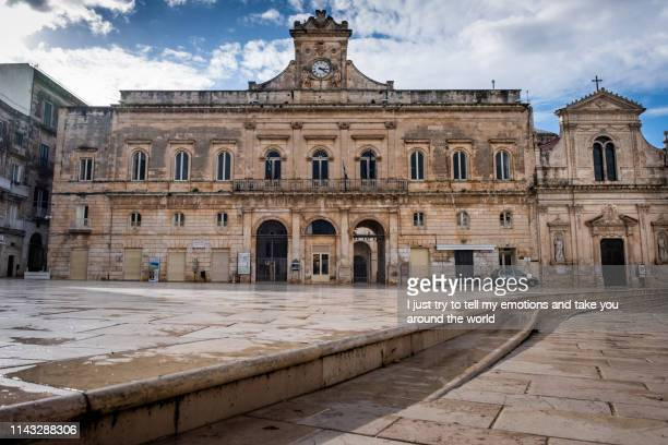 old city center, ostuni - puglia, italy - ostuni stock photos and pictures