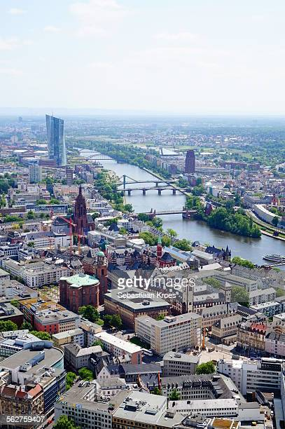 old city centre, frankfurt am main, germany - seat of the european central bank stock photos and pictures