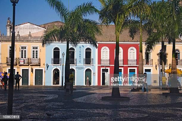 old city centre of salvador, pelhourino. - バイア州 ストックフォトと画像