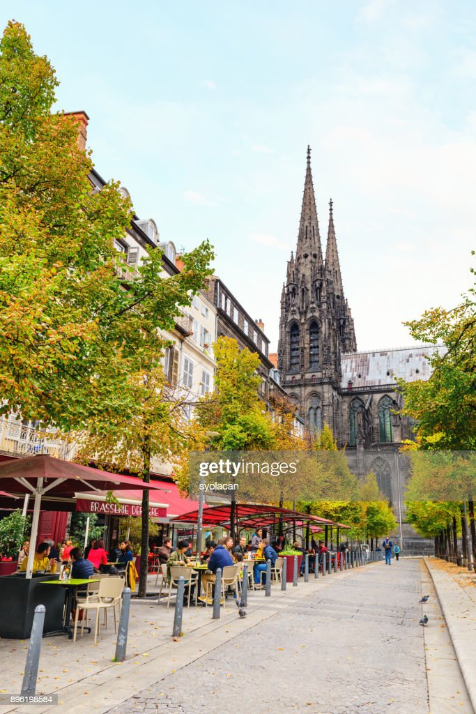Old city centre of the Clermont Ferrand : Stock Photo