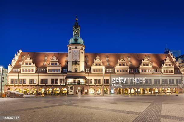 old city hall leipzig altes rathaus sachsen, deutschland - leipzig stock-fotos und bilder