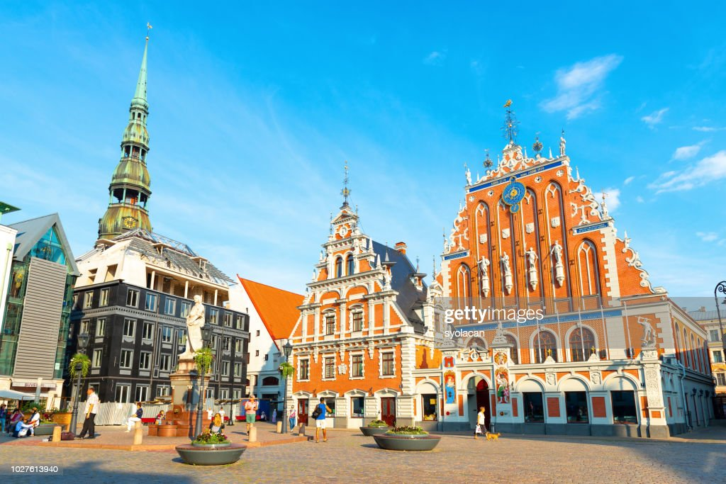Old City Hall Square of Riga : Stock Photo