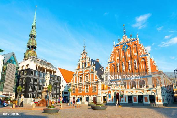 old city hall square of riga - syolacan stock pictures, royalty-free photos & images