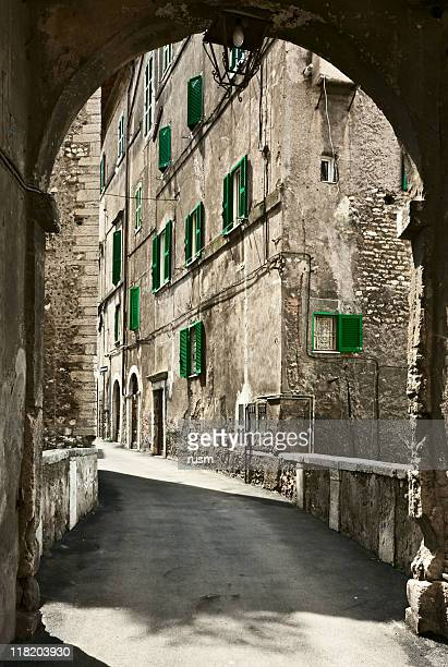 old city, italy - sepiakleurig stockfoto's en -beelden