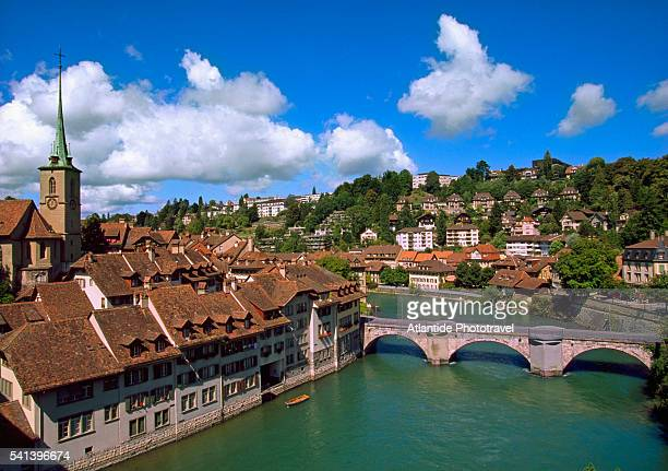 Old city of Bern on the Aare River