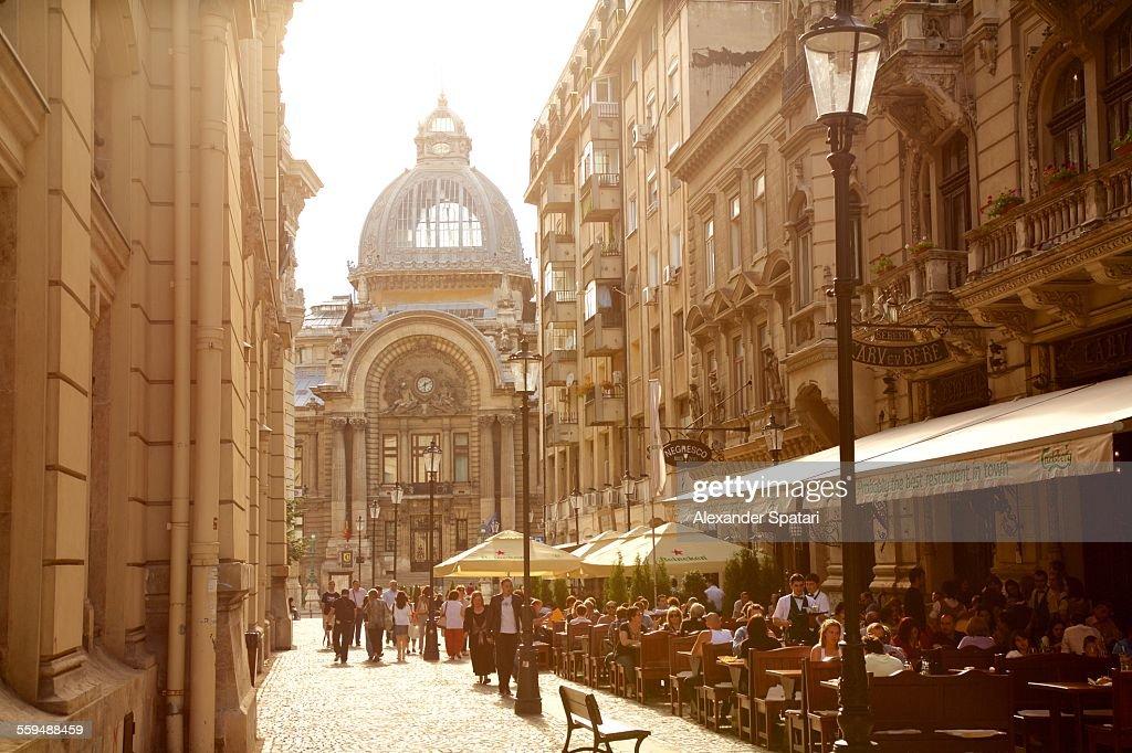 Old city of Bucharest, Romania : Stock Photo