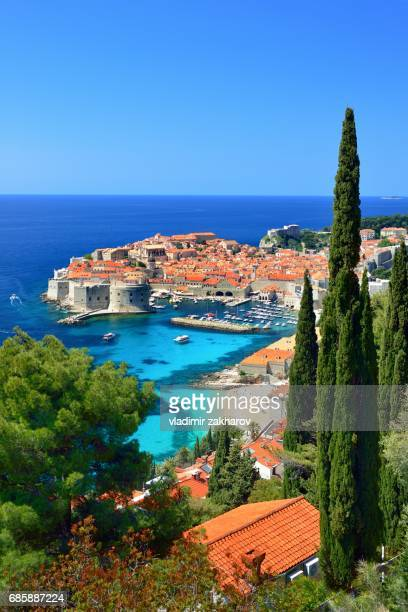 Old City of Dubrovnik elevated view