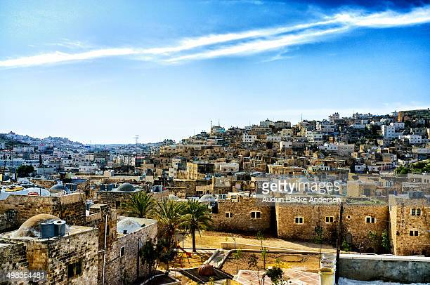 old city of hebron, palestine - hebron stock pictures, royalty-free photos & images