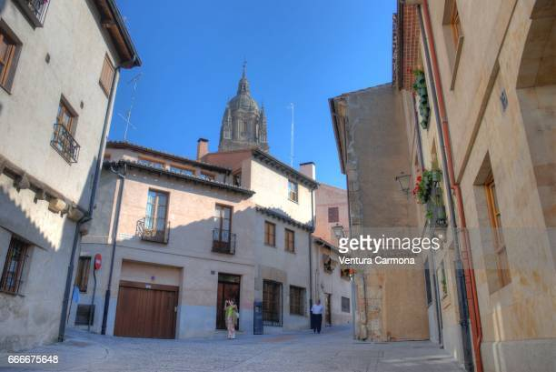 old city of salamanca, spain - geschichtlich stockfoto's en -beelden