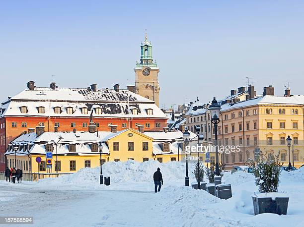 Old city (Gamla stan) Stockholm Sweden in the winter,