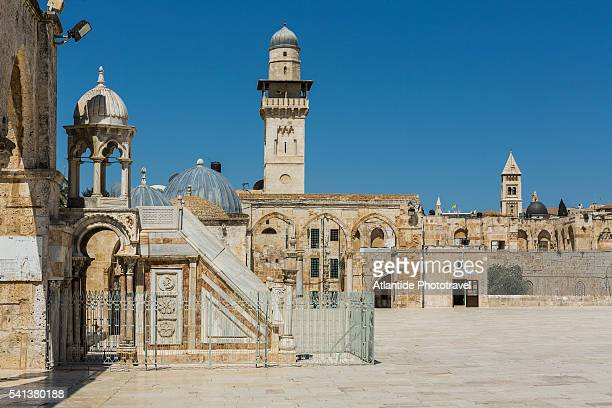 Old City, Temple Mount, the Summer Pulpit and a minaret
