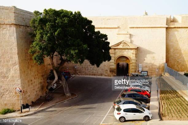 Old city wall and Greek Gate, Mdina, Malta