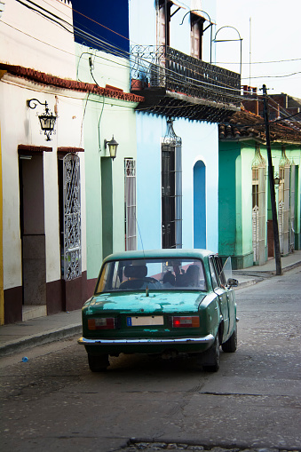 Old classic car at Trinidad town, Cuba. - gettyimageskorea