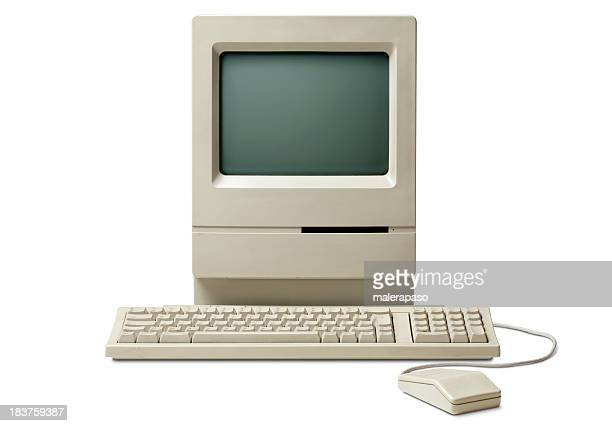 old classic computer - desktop pc stockfoto's en -beelden