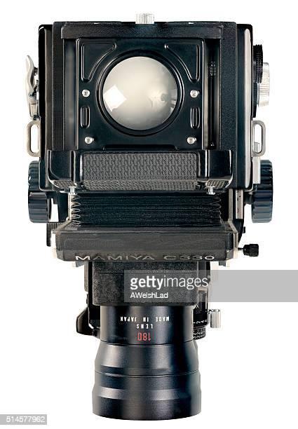 Vieux Vintage classique Mamiya C330f avec appareil photo réflexe à un objectif