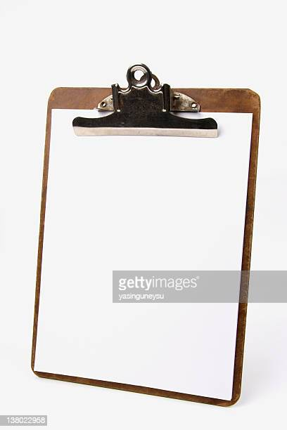 Old Clipboard and Blank Paper