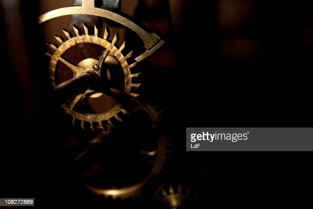 Old Clock gear closeup