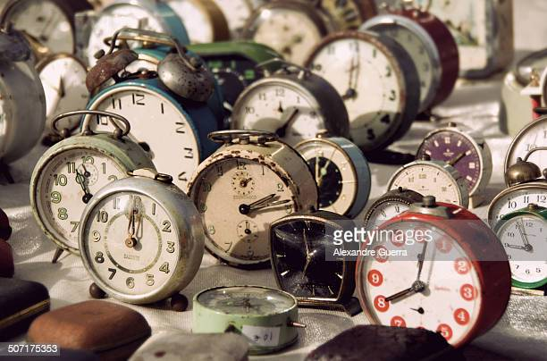 old clocks collection - batalha guerra stock photos and pictures