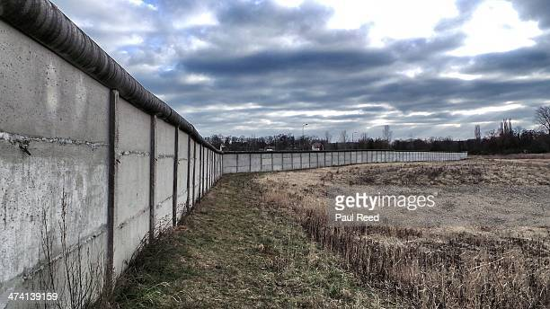 Old Cold war border wall on the line of East & West Germany.