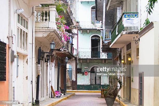 Old colonial buildings line the city streets