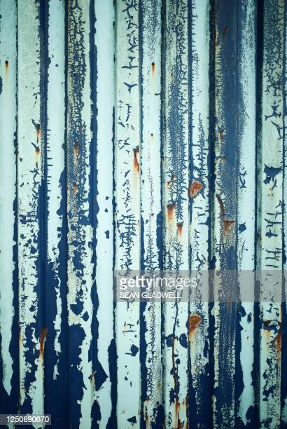 old corrugated steel - heavy metal stock pictures, royalty-free photos & images