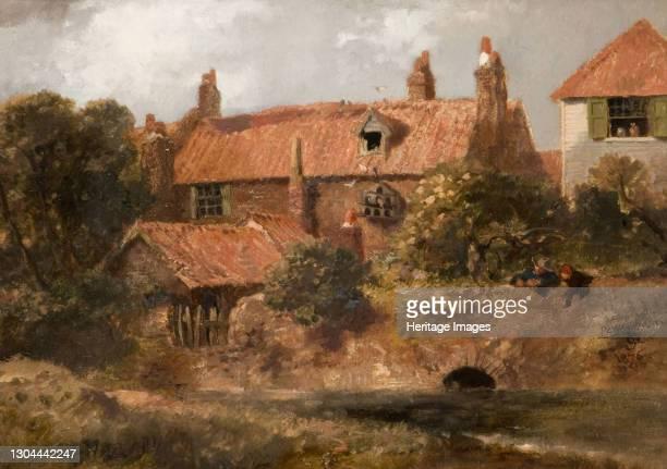 Old Cottages At Lewisham, 1876. Artist Sir John Gilbert.