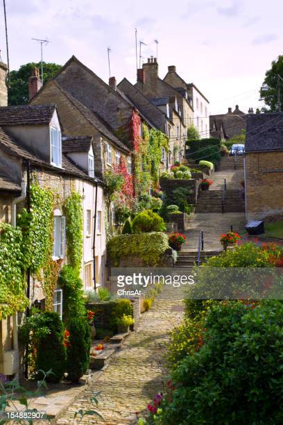 Old cottages on Chipping Steps, Tetbury, Cotswolds, Gloucestershire, UK