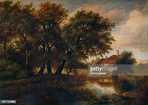 Old Cottages on the Brent looking towards Harrow' 1830 Painting held at The Ashmolean Museum of Art and Archaeology Oxford From A Catalogue of the...