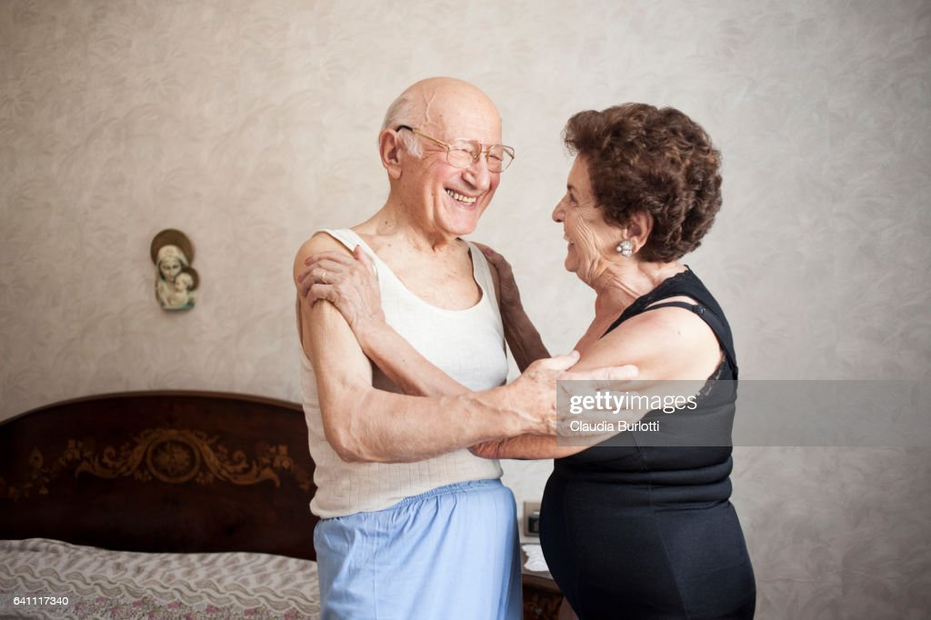 Old Couple In Love Stock Photo
