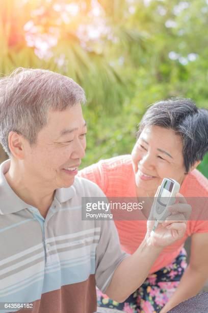 prevención de pareja vieja de la diabetes