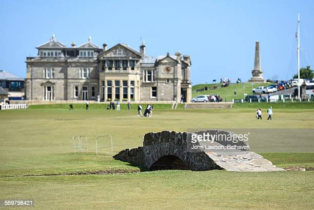 old course st andrews ahead of open championship - the royal and ancient golf club stock pictures, royalty-free photos & images