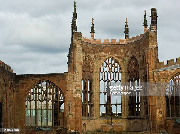 old coventry cathedral ruins - coventry stock pictures, royalty-free photos & images