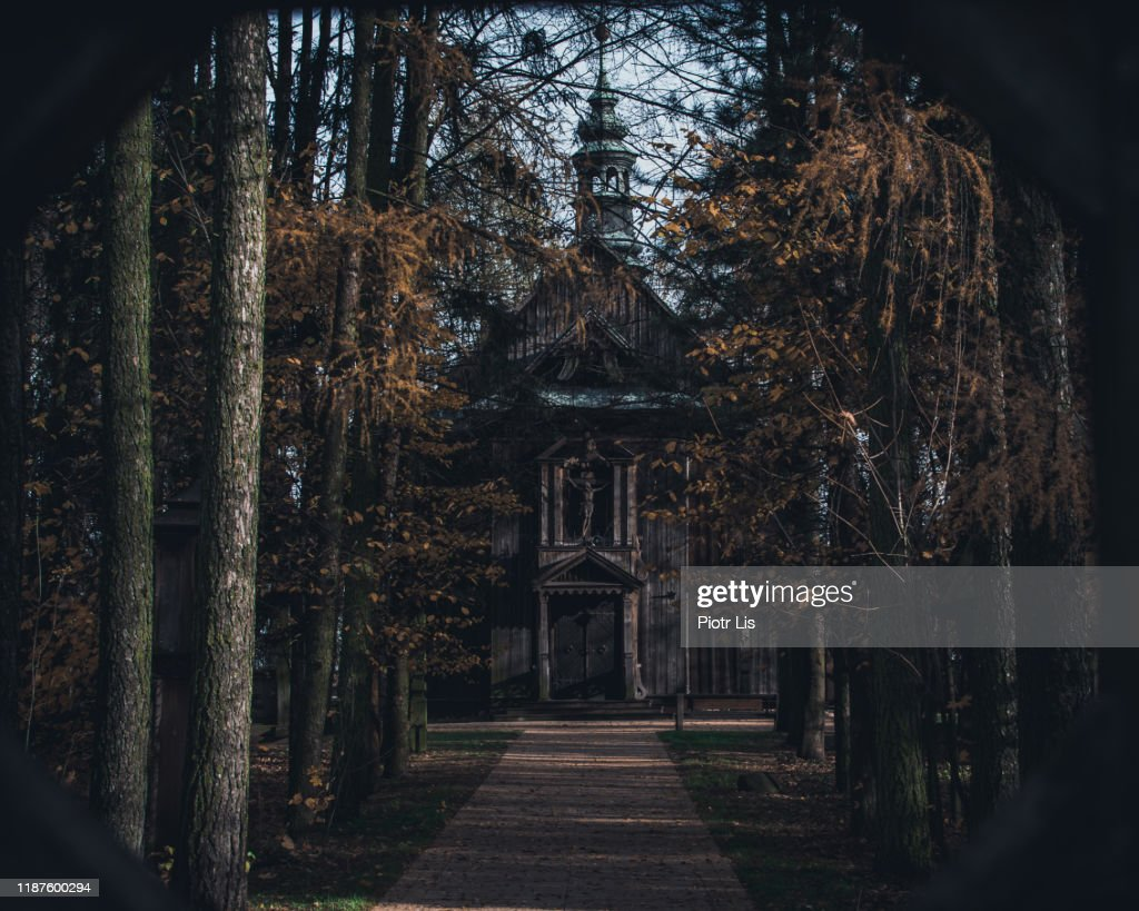 Old Creepy Church In Masovia In Poland High Res Stock Photo Getty Images