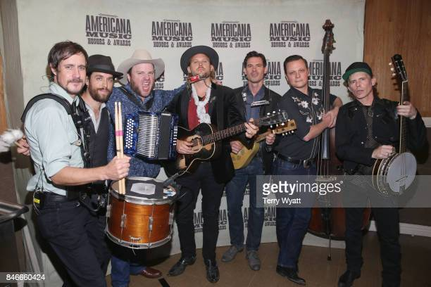 Old Crow Medicine Show poses for a photo during the 2017 Americana Music Association Honors Awards on September 13 2017 in Nashville Tennessee