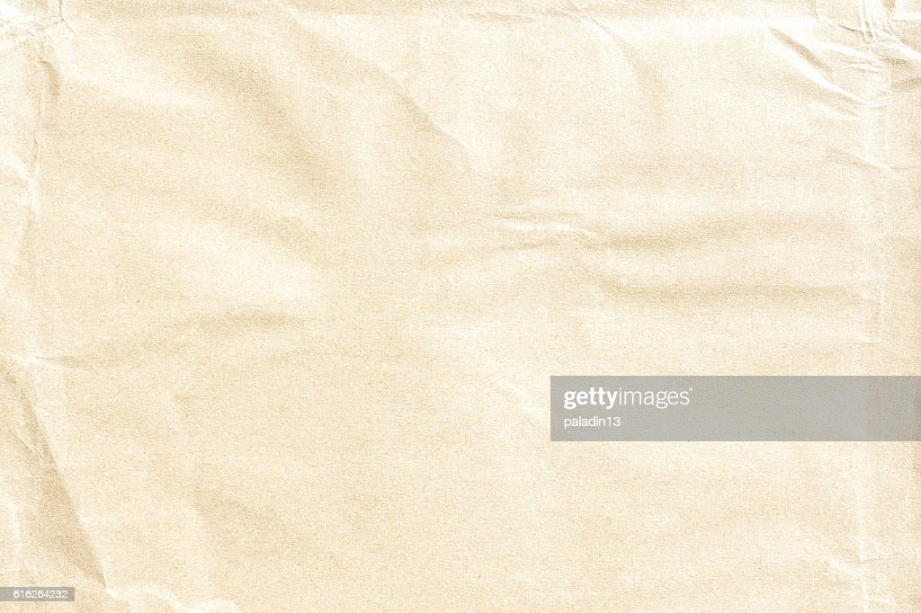 Old crumpled paper texture : Stock Photo