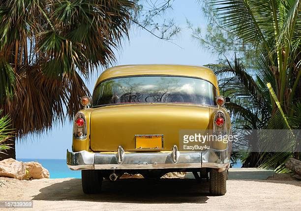 old cuban car - bumper stock pictures, royalty-free photos & images