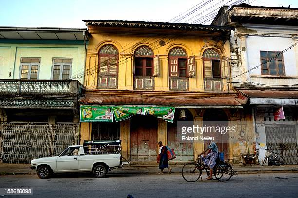 Old decrepit building in Mawlamyine it was the first capital of British Burma in the 19th century It's the main city of the Mon State on the Salween...