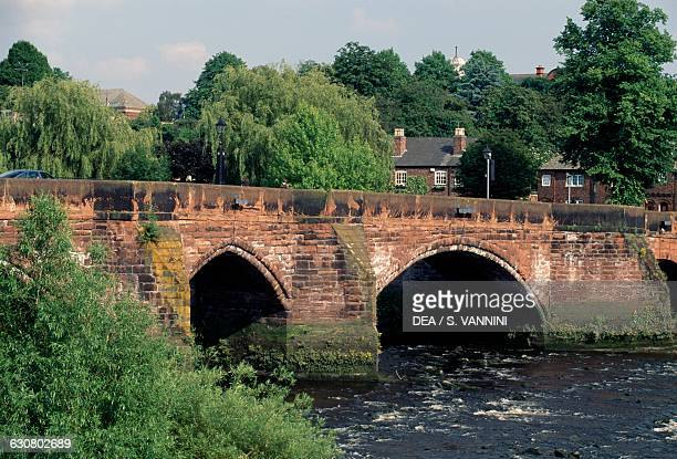 Old Dee Bridge over the River Dee Chester England United Kingdom 14th century