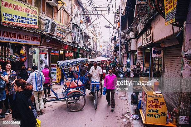 old delhi scene - old delhi stock pictures, royalty-free photos & images