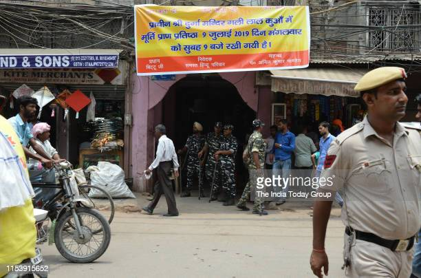 Old Delhis Lal Kuan area after protests and police restrictions were over New Delhi