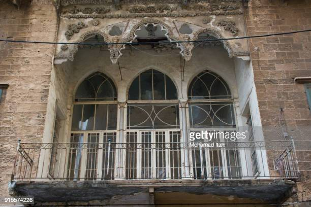 old deserted house - old beirut stock photos and pictures