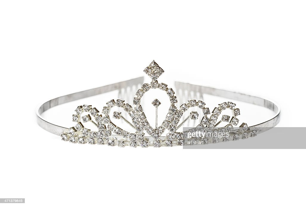 Old Diadem on White Background : Stock Photo