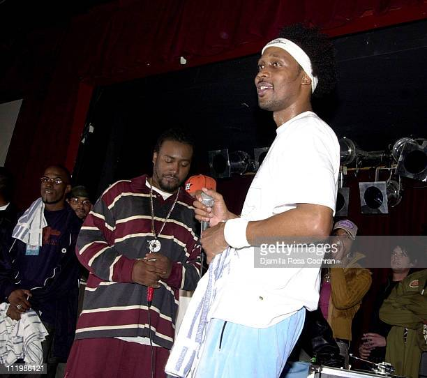 Old Dirty Bastard and RZA during RZA and Old Dirty Perform Live at BB King at BB King Blues Club Grill in New York City New York United States