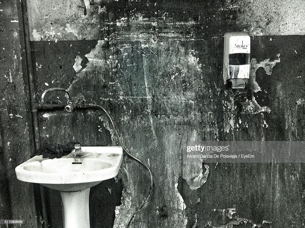 Old Dirty Bathroom Stock Photo