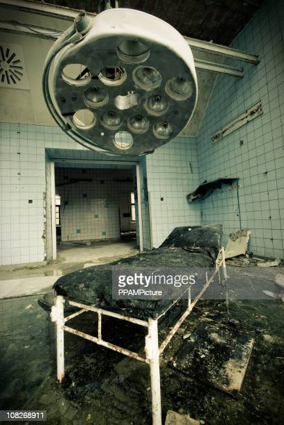 old dirty operating room - abandoned stock pictures, royalty-free photos & images