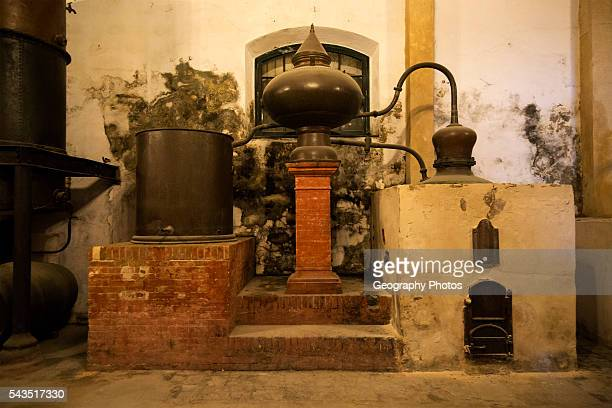 Old distilling equipment for brandy cognac production in Gonzalez Byass bodega Jerez de la Frontera Cadiz province Spain