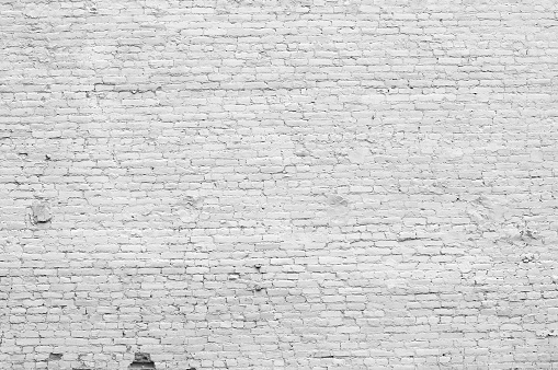 Old distressed white brick wall 157333714