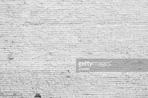 . Old Distressed White Brick Wall Stock Photo   Getty Images