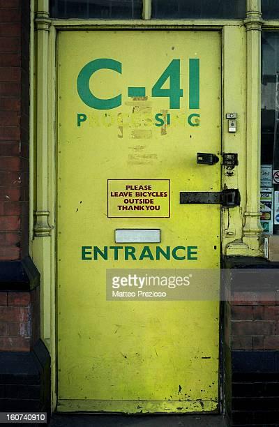 Old Disused Film Processing Lab St Pancras, London Olympus OM-1 Zuiko OM 50mm 1:1.4 Fuju Reala 100