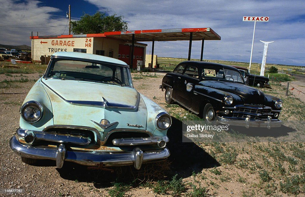 Old Dodges For Sale Along Route 66 Somewhere In Arizona Stock Photo ...